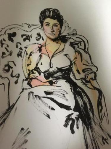 étude de 'Lady Agnes of Lochnaw' de John Singer Sargent aux feutres touch five