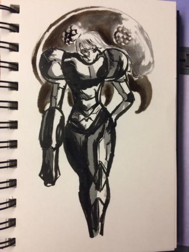Samus Aran, Metroid
