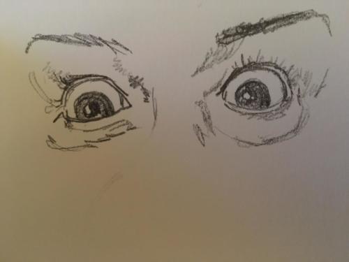 études du fonctionnement de l'œil pour l'épisode Youtube 'apprendre à regarder'